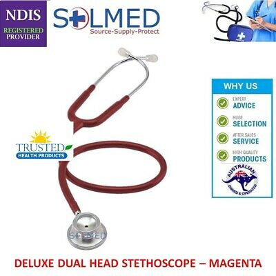 Professional Stethoscope Luxury Doctors Dual Head 76.2Cm (Magenta) Boxed