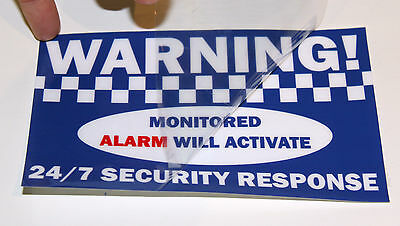 WARNING! alarm window internal stickers signs decal Home House office security