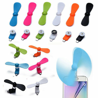 Luxury Android Phone Super Mute USB Cooler Cooling Micro Mini Fan For Smartphone