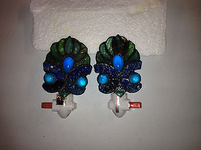 Stained Glass Nite-lites Set of Two