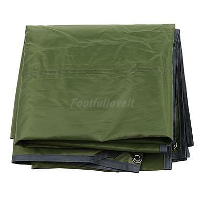 Outdoor 3-4Person Camping Picnic Tent Tarp Pad Shelter Rain Cover Army Green