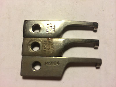 (3) positioning fingers 149124 147475 for SINGER single needle sewing machines