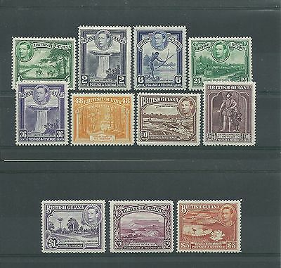 British Guiana 1938-52 many vals to $3 SG308-19, mnh/mtd mint.Cat.£136