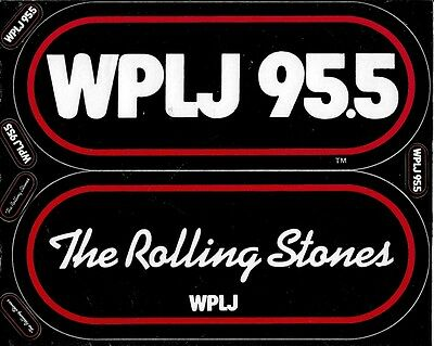 Rolling Stones the  1981 bumper sticker unused WPLJ radio bumpersticker
