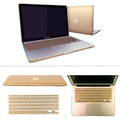 "Metallic Gold Hard Case Keyboard Cover for MacBook Pro 13/15"" Retina Air 13/11"""