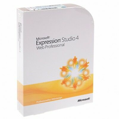 Microsoft Expression Studio 4 Web Professional // Deutsch // Vollversion // NEU
