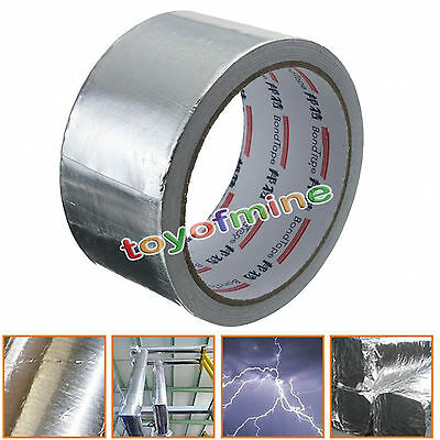 48mm-x-17m-Roll-Silver-Aluminium-Foil-Adhesive-Repairs-Heating-Duct-Sealing-Tape