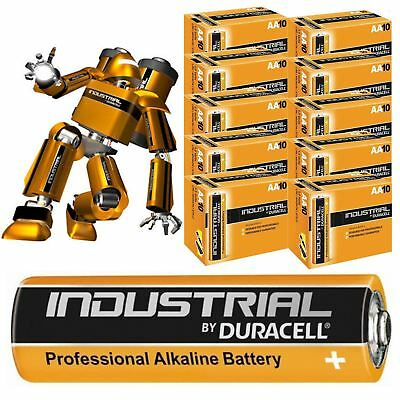 100 X Duracell AA Industrial Battery MN1500 Alkaline Replace Procell Expiry 2023
