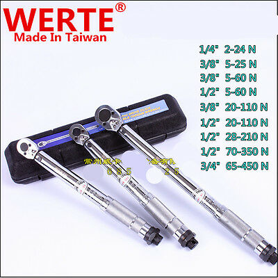 """Torque Wrench 1/2"""" 1/4"""" 3/4"""" 3/8"""" 2-5-20-24-25-28-60-65-70-110-210-350-450N.M"""