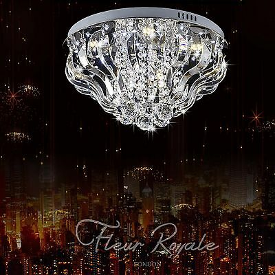 77381344 50CM Luxury Round Living Dining Room Hall Ceiling Light Crystal Glass