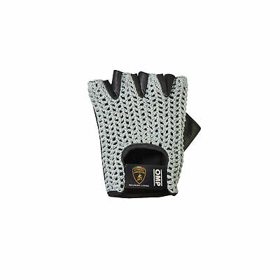 Driving gloves OMP TAZIO AUTOMOBILI LAMBORGHINI Classic Vintage Leather smooth