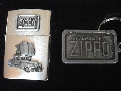 1947 Zippo Car 1998 Limited Edition Collector Lighter Keychain Tin Can Mint
