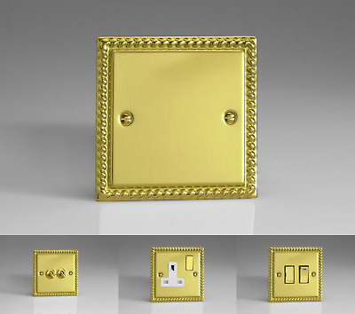 Georgian Brass Plated Classic Light Switches, Plug Sockets, TV Sockets & More!