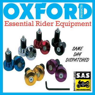 Oxford Motorcycle Bike Bar End Weights OF870 Chrome/Silver