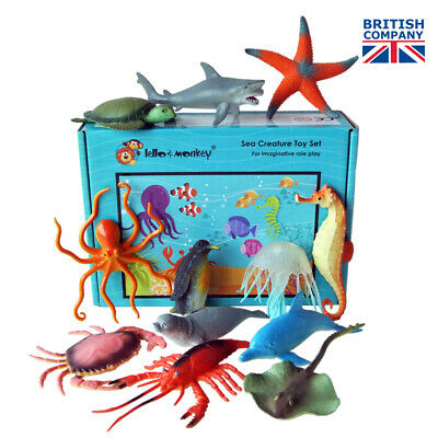 Sea Creature Toy Plastic Animal Figures set of 12 - buy direct from the importer