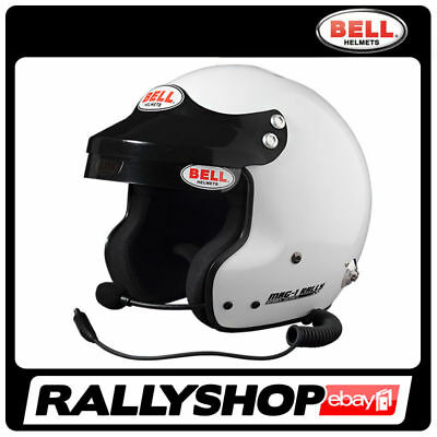 BELL HELMET MAG-1 RALLY size M 58-59 cm White OPEN FACE HANS Peltor Intercom
