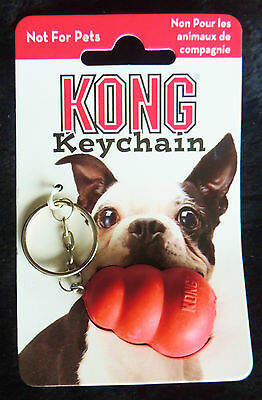 "KONG GEAR Key Chain * Key Ring * Red Rubber MINI MINIATURE KONG TOY * 4"" Long"