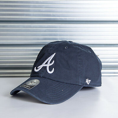 NEW! Atlanta Braves '47 Brand Official MLB Clean Up Cap. Same Day Dispatch