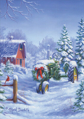 Snow covered john deere tractor 18 boxed christmas cards by lpg snow covered john deere tractor 18 boxed christmas cards by lpg greetings m4hsunfo