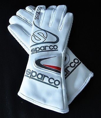 Sparco WINTER Gloves White, EU size 7 FREE DELIVERY SPORTS Rally Race Kart SALE