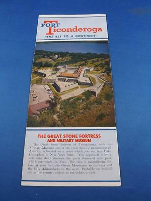 Fort Ticonderoga Travel Brochure Stone Fortress Military Museum History Dates