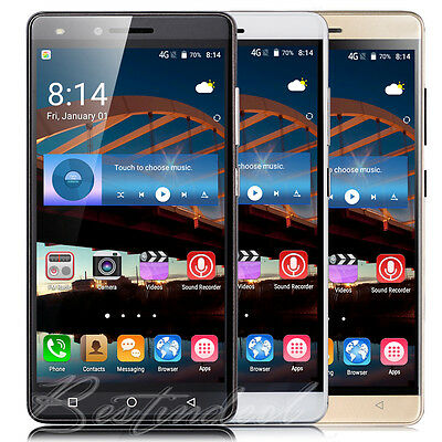 "Quad Core Android 5.1 Smartphone 3G Unlocked 5"" Mobile Cell Phone Dual SIM GPS"