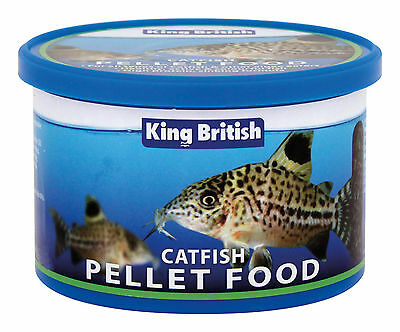 King British Sinking Pellets Food for Catfish and Algae Eaters 65g or 200g