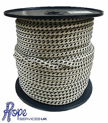 Quality Double Braid on Braid Polyester Rope Sizes 12 14  & 16 mm Brand New