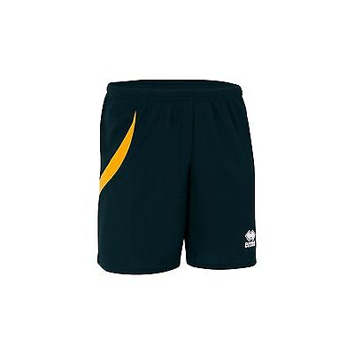 Errea Neath Football Shorts - Black/amber - Various Sizes Available