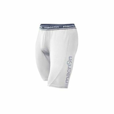 MACRON QUINCE WHITE BASELAYER SHORTS - Various Sizes Available