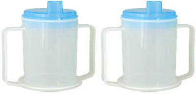 Medisure Anti-Splash Elderly Oap Durable 300Ml Adult Drinking Cup X2 Twin Pack