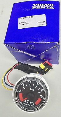 VOLVO PENTA Voltmeter Part # 874913 Brand New In Box with instructions OEM