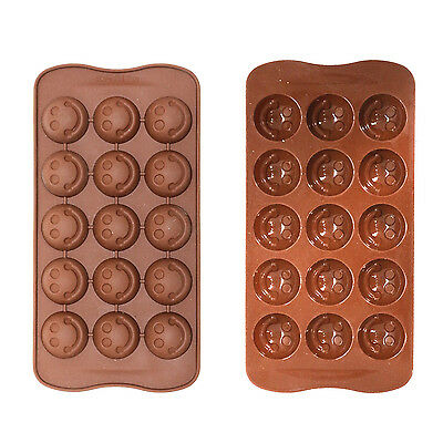 Silicone Ice Tray / Chocolate Mould For Sugarcraft / Cakes etc - Emoji Smiles