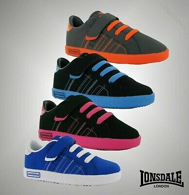Kids Boys Girls Branded Lonsdale Oval Trainers Shoes Footwear Size C10-2
