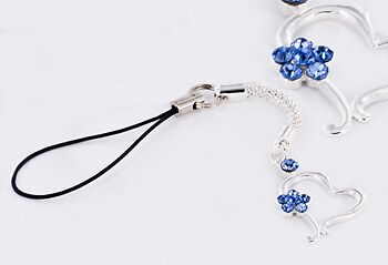 BLUE HEART Cell Charm Phone Cool New Phone Accessories