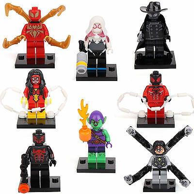 Scarlet Spider Iron man 2099 Doctor Octopus 8 Minifigures Building Bricks lEGO