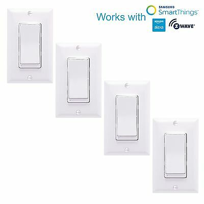 4 Pack ZW15S Z-Wave Switch Home Automation Controller Light Switch Alexa