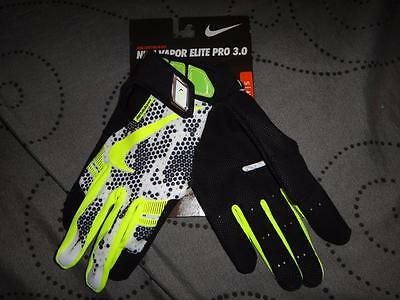 Nike UNISEX VAPOR Elite Pro 3.0 Batting Glove White/Black GB0410-100 S NWT $50