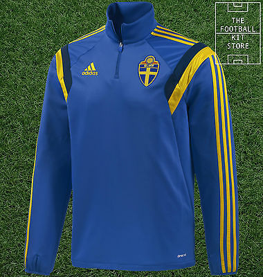 Sweden Football Midlayer - Official Adidas Training Wear - Mens - All Sizes