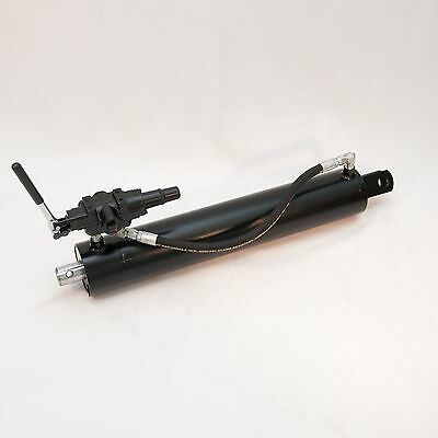 """4-1/2"""" Bore x 24"""" Stroke Hydraulic Logsplitter Cylinder with valve combo NEW"""