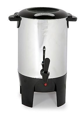 Stainless Steel 50-cup Coffee Urn/Maker or Tea/Hotwater NEW