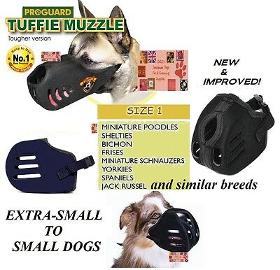 SMALL TUFFIE Dog MUZZLE Comfort NO BITE EXTRA HEAVY DUTY QUICK EasyFIT TRAINING