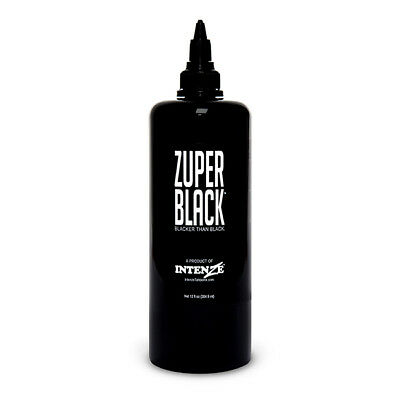 Zuper Black - Intenze Tattoo Ink - 12 oz Bottle