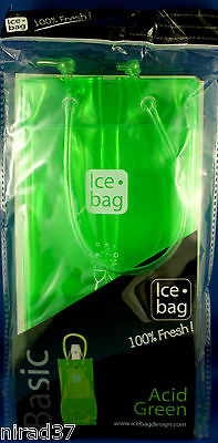 NEON GREEN ICE BAG French Designed Gift BAG WINE COOLER New Sealed In Australia