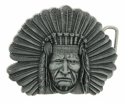 Indian Chief Head Western Indian  Metal Fashion Belt Buckle