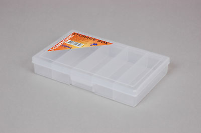 Fischer Plastic Products 5 Compartment Storage Box Small 1H-030 Cear