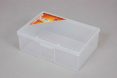 Fischer Plastic Products 1 Compartment Storage Box Medium 1H-032 Clear