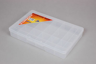 Fischer Plastic Products 18 Compartment Storage Box Large 1H-094 Clear