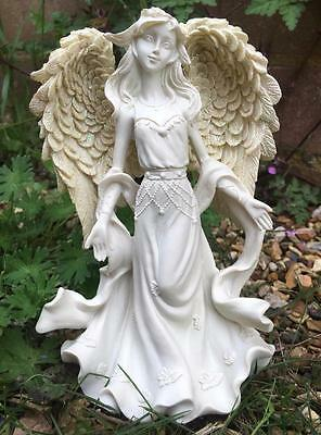 Beautiful Open Arms Angel Statue Grave Memorial Ornament Ang106B-Pu