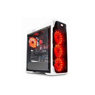 DAEYANG Moonlight White Red LED ATX Middle Tower Computer Case